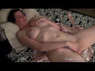 Brunette Milf Inara Fingering Her Snatch