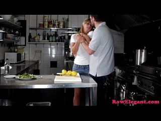 Beautiful Chef Babe Assfucked In The Kitchen