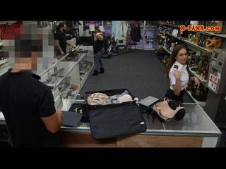 Sexy Latina Stewardess Pawning Her Stuff And Got Fucked Hard