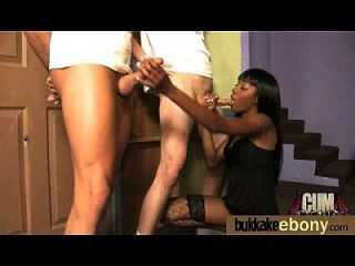 First Time Ebony With A Group Of White Dicks 17