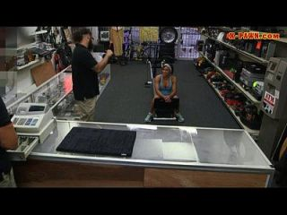 Big Tits Muscular Chick Gives Head And Fucked In The Pawnshop