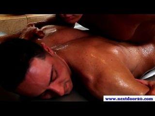Muscled Jock Sensually Rubbing Dude
