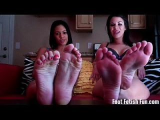 Worship Our Feet And Suck Our Toes