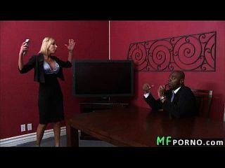 Tiny Pussy Milf Takes Huge Black Dick Morgan Ray 1