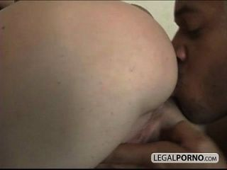 Big Natural Boobs And A Black Cock Having Threesome On A Couch Sl-2-04