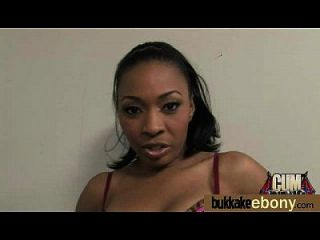 Hot Ebony Chick In Interracial Gangbang 5