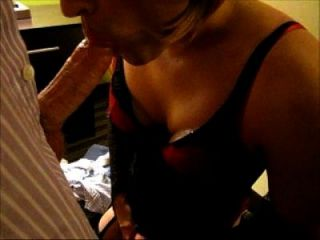 Cross Dresser Jennifer Sucking Businessman Cock In His Hotel Room