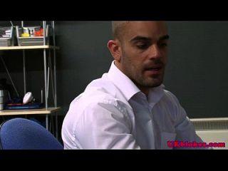 English Office Studs Fuck And Masturbate