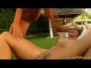 Fisting Fetish Lesbian Babe Squirts A Bit