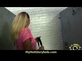 I Sneak Black Bj As I Fuck Husband Thrue Gloryhole 13