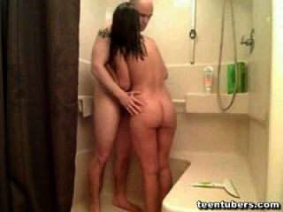 Boyfriend Giving Girlfriend A Shower