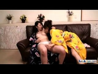Asian Girl Getting Her Nipples Sucked Licking In 69 Rubbing In Scissor On The Co