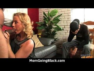 Monster Black Cock Bangs My Moms White Pussy 21