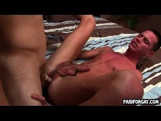 Straight Guy Cums While Getting Fucked For Cash