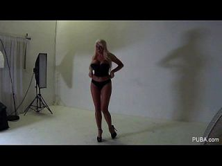 Hot Blonde Behind The Scenes