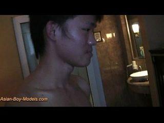 Handcuffed Slim Boy Got Handjob To Get Cum