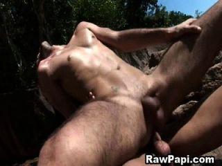 Outdoor Bareback Fucking With Sexy Latino Men
