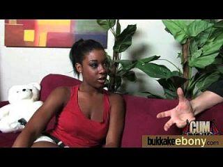 Interracial Bukkake Sex With Black Porn Star 18