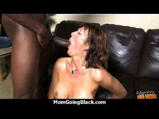 Big Tits White Cougar Fucks A Lucky Black Guy 25