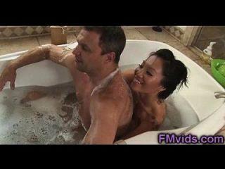 Asa Akira Hot Bathtub Sucking