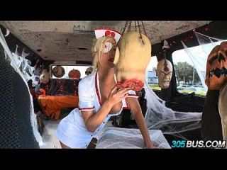 Fucking Random Guys On Halloween Blonde Puma Swede.1
