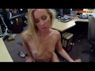 Slim Babe Sells Her Car Sells Herself In The Pawnshop