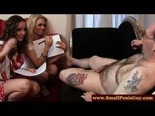 Cfnm Mistresses Tug His Tiny Cock