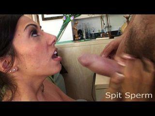 Surprise Cum Spray In Her Face