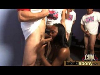 Ebony Babe Sucks Group Of White Guys 4