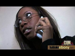 Hot Ebony Chick In Interracial Gangbang 25