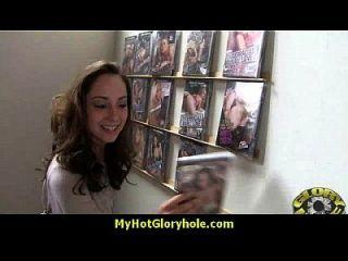 Gloryhole With A Nasty Wild White Girl Interracial 18