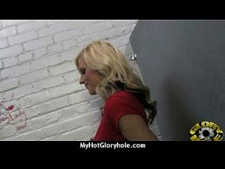 Black Chick Blows & Fucks Cock On A Naughty Gloryhole 13