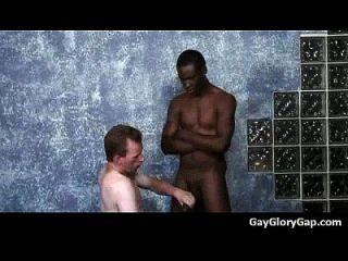 Gloryholes And Handjobs - Gay Wet Blowjobs Through A Hole 12