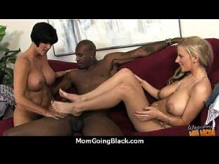 Monster Black Cock Bangs My Moms White Pussy 16