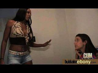 Interracial Bukkake Sex With Black Porn Star 9