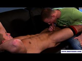 Straight Pornstar Gets A Gay Bj On Sofa