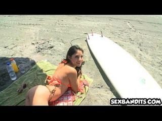 Tiny Latina Teen Babe Gets Fucked On Beach 15