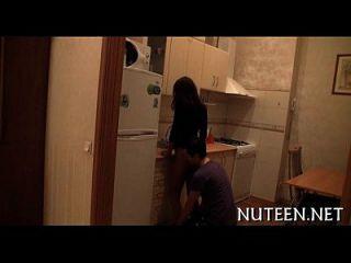 Sweetheart Undresses Her Boyfriend