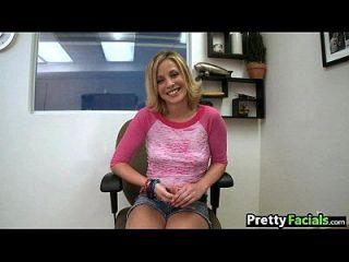 Cute Blonde Teen Facial Shaye Bennett 1.1