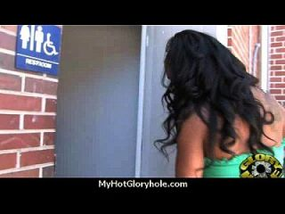 Ebony Backs Her Booty All The Way To The Gloryhole 7