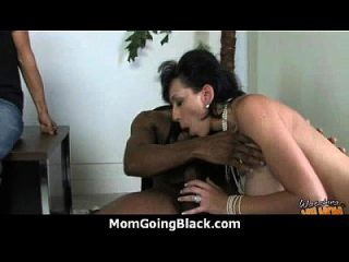 Monster Black Cock Bangs My Moms White Pussy 2