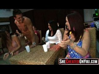 48 Cheating Wives Caught Cock Sucking At Party05