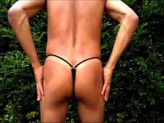 Brazilian Man Bikini In The Garden (120004) Cdspbissexual