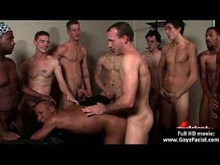 Bukkake Gay Boys - Nasty Bareback Facial Cumshot Parties 08