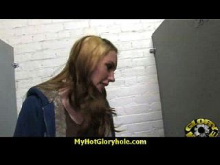 Hottie Sucks And Fucks Black Cock For Cusmhot At Gloryhole 4