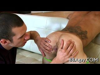 Homosexual Fellow Gives Lusty Anal Lickings