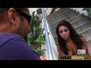 Ebony Gets Group Cumshots 28