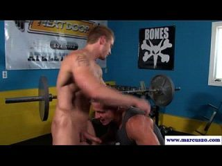 Straight Jock Sucks Workout Room Cock