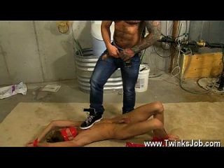 Twink Sex Kyler Is Bound, Blindfolded And Ball-gagged With Bondage