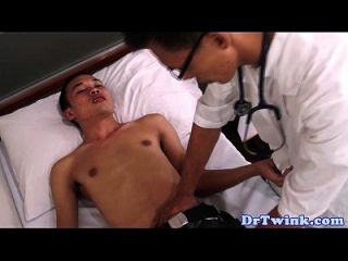 Asian Md Checks Up Patients Cock With Bj